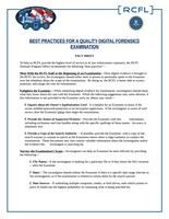 Examination Best Practices FAQ Sheet