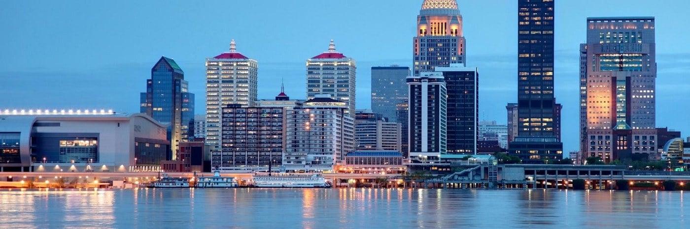 Louisville city skyline
