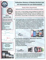 Collection/Seizure of Mobile Devices and IoT Awareness for Law Enforcement