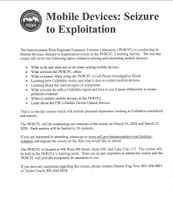 Mobile Devices: Seizure to Exploitation - 3/24/20 Session