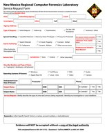 New Mexico RCFL Request for Service Form