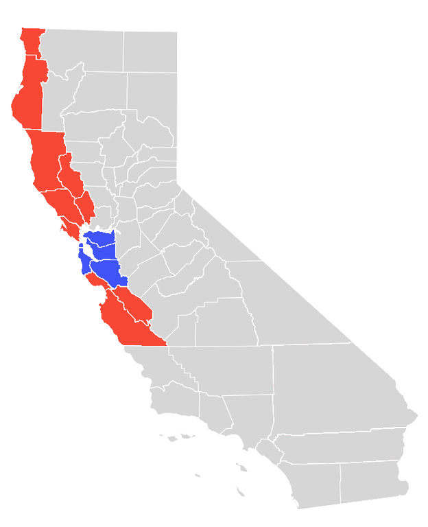 Silicon Valley RCFL Service Area Map